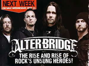 Alter Bridge Kerrang May 2011