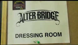 Alter Bridge dressing room sign
