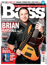 Brian on cover of Bass magazine!