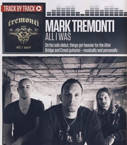 Tremonti feature in Total Guitar!