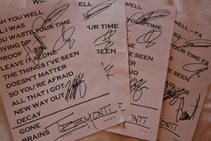 Tremonti signed set list competition!