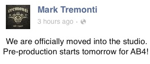 Mark Tremonti AB 4 Update April 13