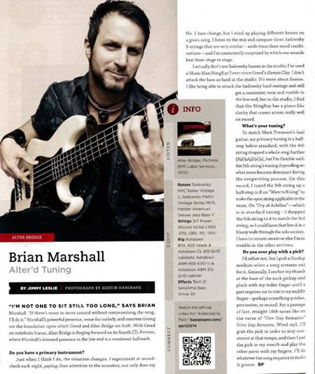Brian Marshall Bass Player article March 14