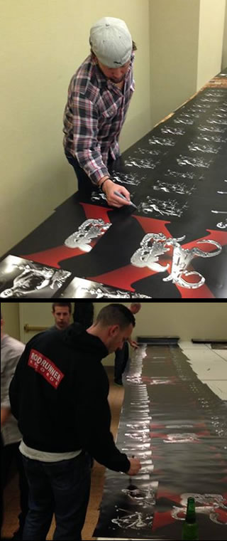 Scott and Mark signing box set posters Feb 14
