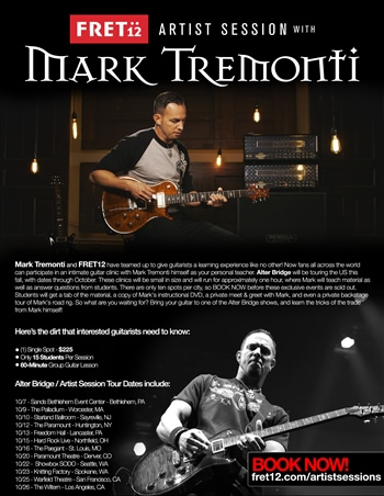 Mark Tremonti Guitar Clinics Oct 14