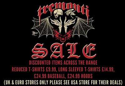 Tremonti: UK merch sale!