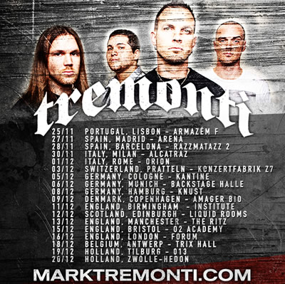 New Tremonti date added for Europe!