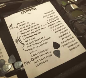 Tremonti II show set list Feb 1, 2015