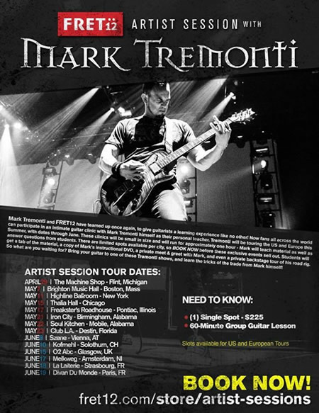 Artist Session with Mark Tremonti 2015