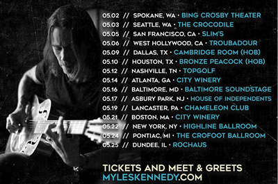 Myles - More US Shows