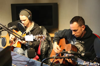 Myles and Mark at BBC Radio Nottingham 20th October 2010