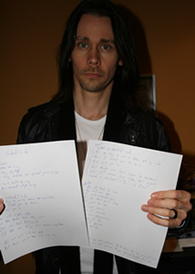 Win Myles' handwritten lyrics!